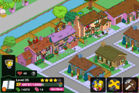 Notice how the decorations on the Simpsons' household are scattered compared to Ned and the others?