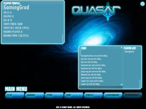 Quasar's Lobby Screen