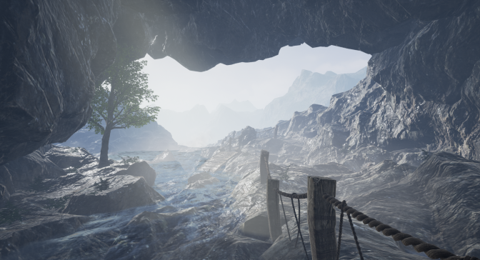 Level Design Practice #6 – Foggy Cave Entrance